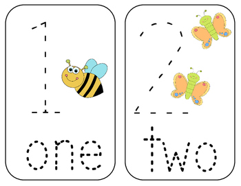 Number Tracing Cards 1-10