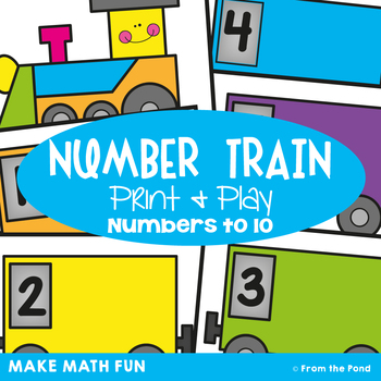 Math Game: Number Train - Math Center for Early Numbers &