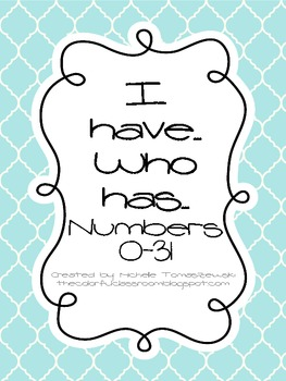 "Number Version of ""I have... Who has?"""
