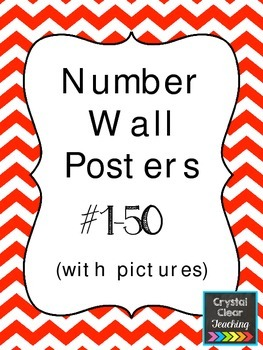 Number Wall Posters 1-50