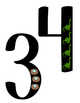 Number Wall Signs with Symbols