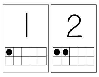 Number Wall with Ten Frames 1-10