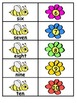 Number Word Bees and Flowers Matching Activity