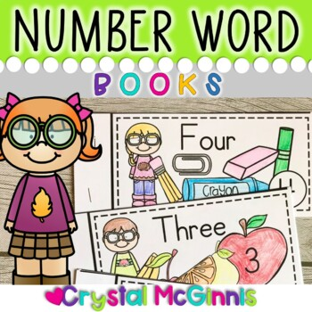 Number Words Books for Guided Reading (Predictable Text fo