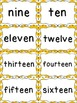 Number Word Cards - Orange Chevron Style - Perfect for Cla