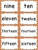 Number Word Cards - Orange Polka Dot Style - Perfect for D