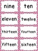 Number Word Cards - Pink Polka Dot Style - Perfect for Dec