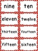 Number Word Cards - Red Polka Dot Style - Perfect for Deco