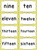 Number Word Cards - Yellow Polka Dot Style - Perfect for D