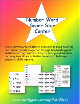 Number Word Center Activities - Cross-Curricular Work Stat