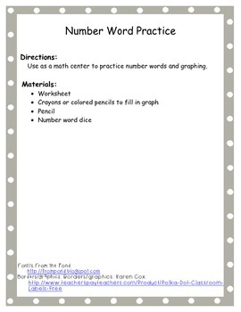 Number Word Graph