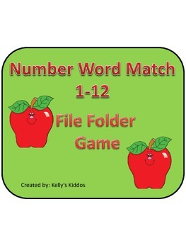 Number Word Match File Folder Game
