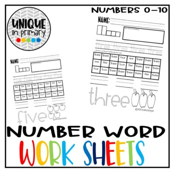 Number Word Writing, Reading, and Spelling 0-5