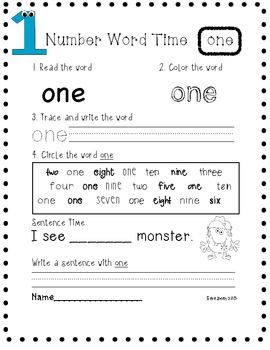 Number Word Writing