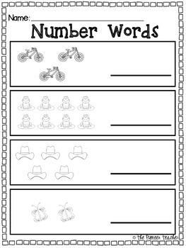 Number Words {0-10} Bundle