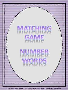 Number Words 1-20_Matching/Memory Game
