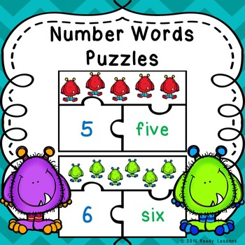 Number Words 1-20 Game Puzzles