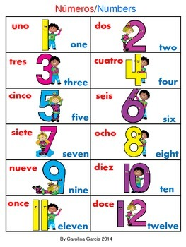 Number Words Bilingual