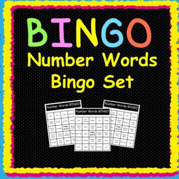 Number Words:  Bingo Game
