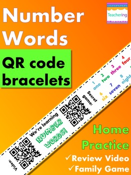 Number Words Homework {Bracelet with review video & family game}