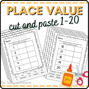 Number Words: Cut and Paste with Place Value 11-20