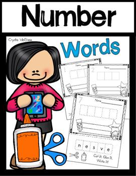 Number Words (Cut it, Build it, Glue it, Write it!) Numbers 1-10
