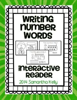 Number Words Interactive Reader