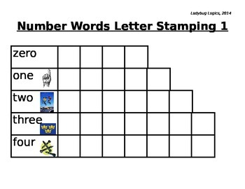 Number Words Letter Stamping