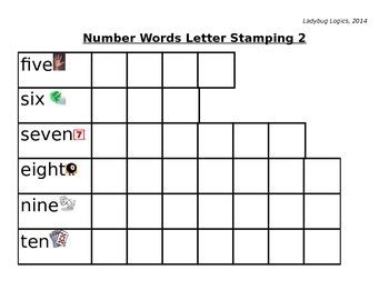 Number Words Letter Stamping 2