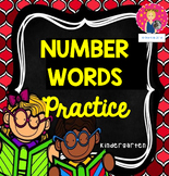 Number Words Practice {PRINT AND GO}