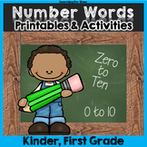 Number Words Printables and Activities: Numbers 0-10
