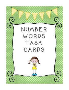 Number Words Task Cards