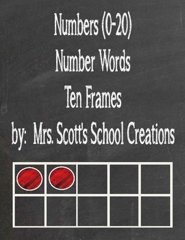 Number Words with Ten Frames
