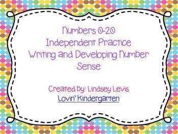 Number Worksheets 0-20 {Build Number Sense and Handwriting