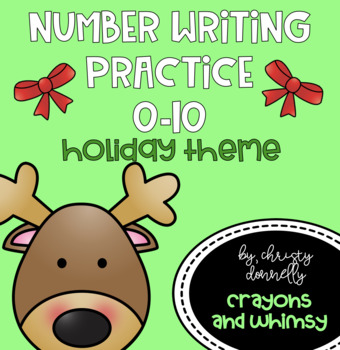 Number Writing 0-10 {Holiday Theme}