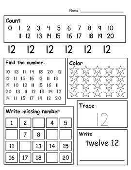 Number Writing 10 - 20