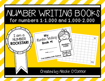 Number Writing Books: Numbers 1-2,000