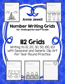 Number Writing Worksheets For Kindergarten and 1st Grade