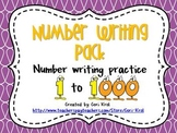 Number Writing Pack