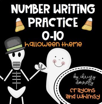 Number Writing Practice 0-10 {Halloween Theme}