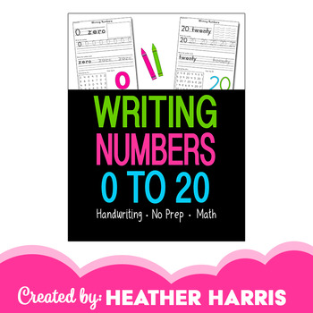 Number Writing Practice Pages