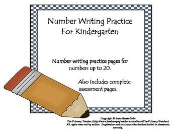 Number Writing Practice for Kindergarten