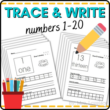 Number Writing Practice - write, draw, color, recognize wi