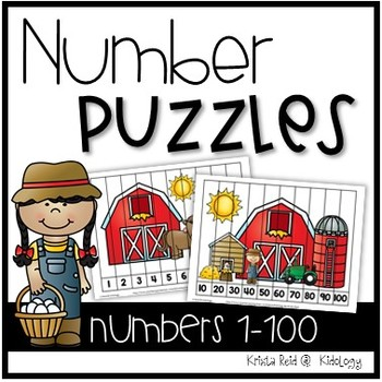 Number and Counting Puzzles - Farm Theme