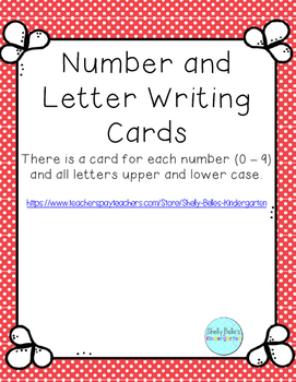Number and Letter Writing Cards