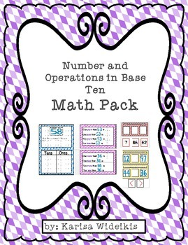 Number and Operations in Base Ten Math Pack