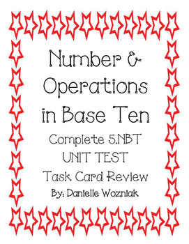 Number and Operations in Base Ten Task Card Review