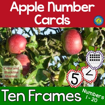 APPLE Math Number and Ten Frame Cards for Matching, Memory