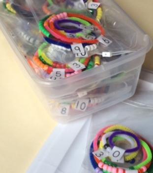 Number bracelets (NO PREP NEEDED) 1 class set of 25