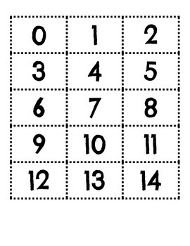 Number cards 1-120 with number words in Spanish for math stations